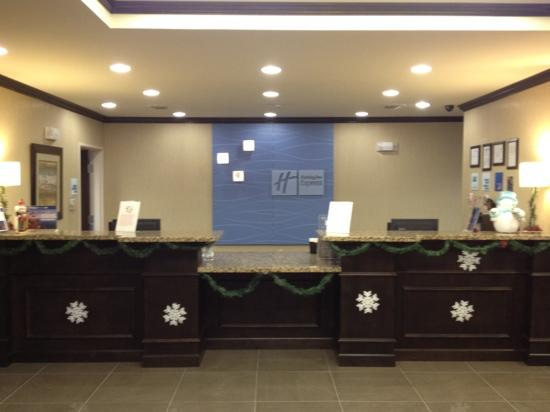 Holiday Inn Express & Suites Bridgeport: front desk during Christmas time