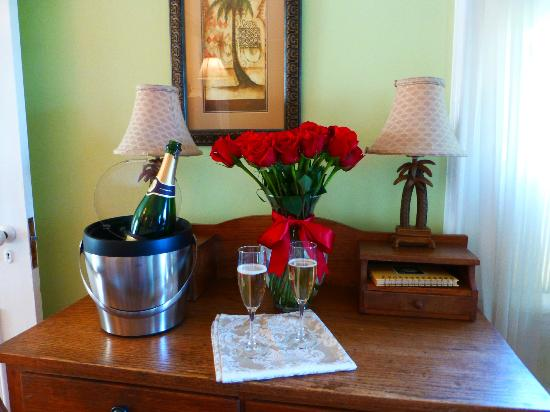 Abigail's Inn: I asked for champagne and flowers, and...