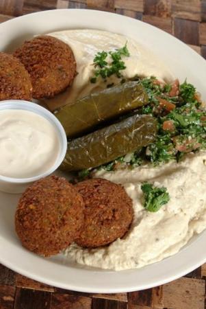 Vegetarian combo hummos tabouli baba dawali falaffel for Aladdins cuisine
