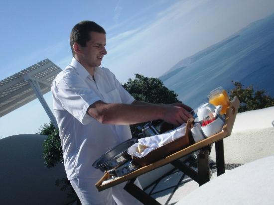 Canaves Oia Hotel : petit déjeuner