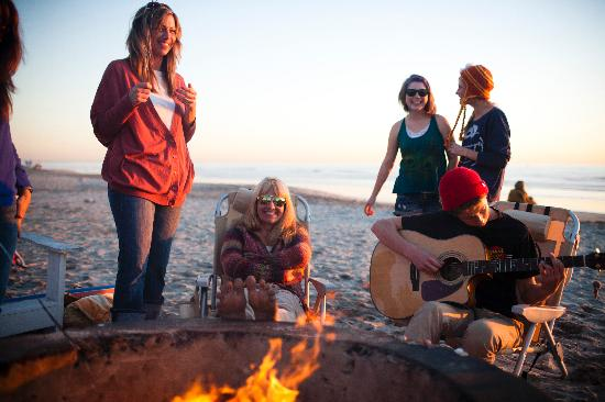 Oceanside, CA: Roast marshmallows with friends on the beach.