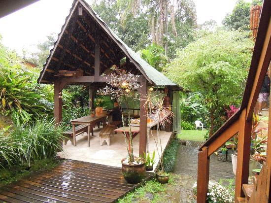 Pousada Cachoeira: desayuno al aire libre