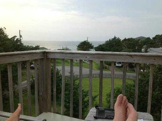 The Cove Bed and Breakfast: view from balcony of Portsmouth Suite