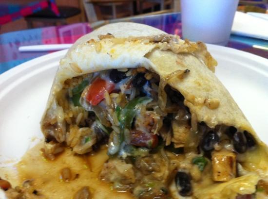 Amigos Cafe Y Cantina: chicken fajita burrito