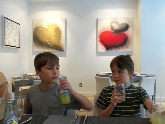 Grandsons enjoying lunch.