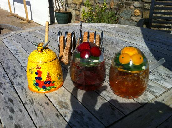 Morar Bed and Breakfast: Homemade jam by the host