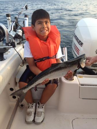 Fish Tales Charters : both my sons caught salmon