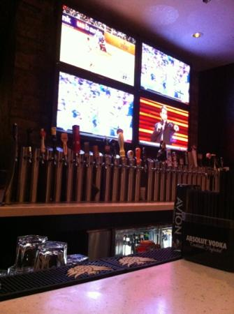 Public House : the bar - TVs and Taps...