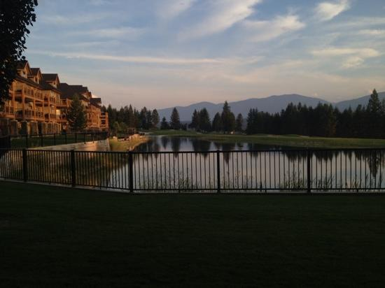 Bighorn Meadows Resort: view from our patio.