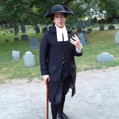 Salem Night Tour: Our guide Eric.