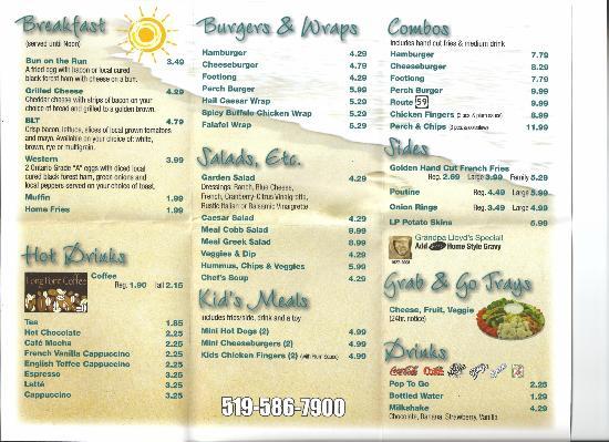 Menu Picture Of The Causeway Restaurant Ontario