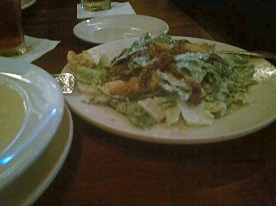 Blue Marlin: Caesar salad, waaay too much sharp dressing. Inedible.