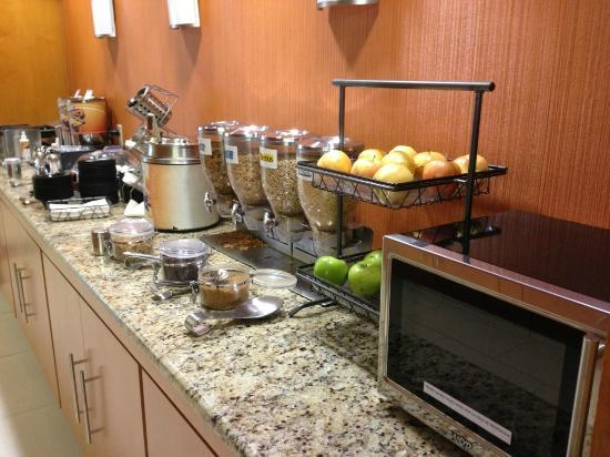 One of the better complimentary breakfasts we've had at a hotel.