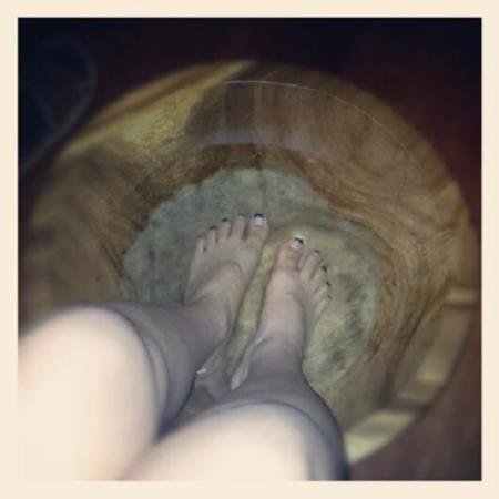 South Sea Sanctuary: foot bath