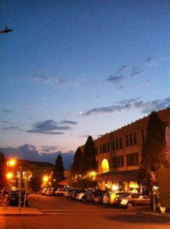 Grove Arcade: outside the Grove @ sunset