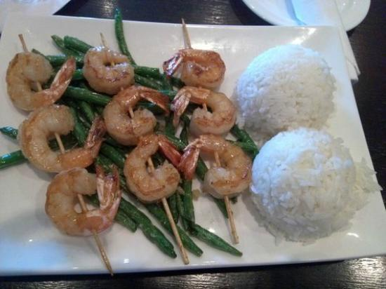 Miyos of Lexington: shrimp kabob