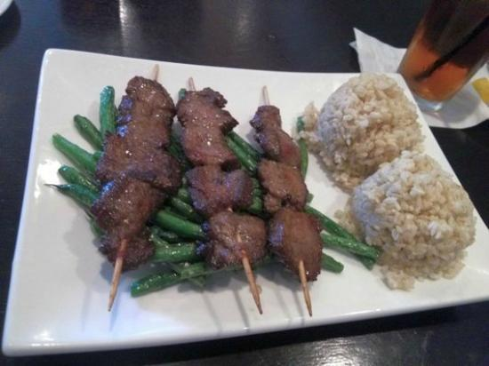 Miyos of Lexington: beef kabob