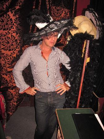 Dom Pedros : JP just loves the hats that are part of the decor