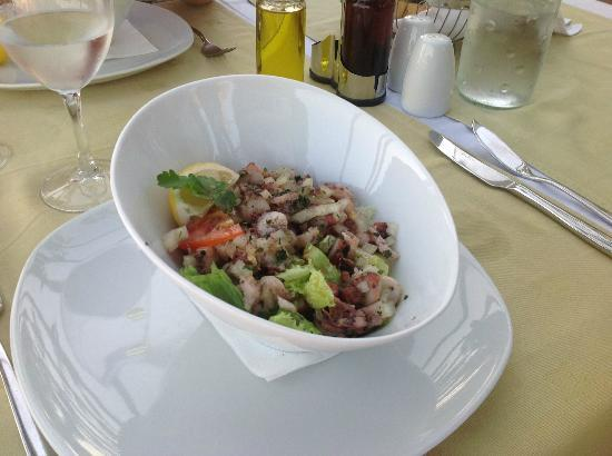 The Maritimo Hotel: Octopus Salad
