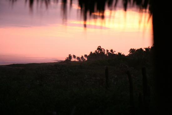 Playa Viva: Sunset, as seen from the Private Casita