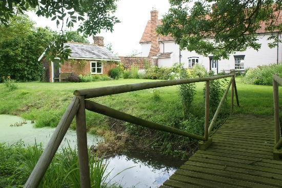 The Firs Farmhouse : Rear including part ofmoat