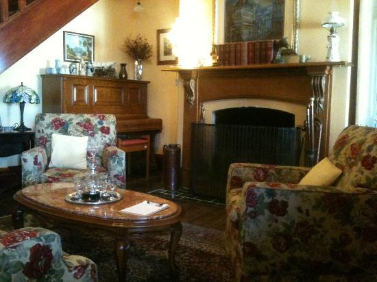 The Old Stone House: Complimentary port and a spot by the fire, yes please.