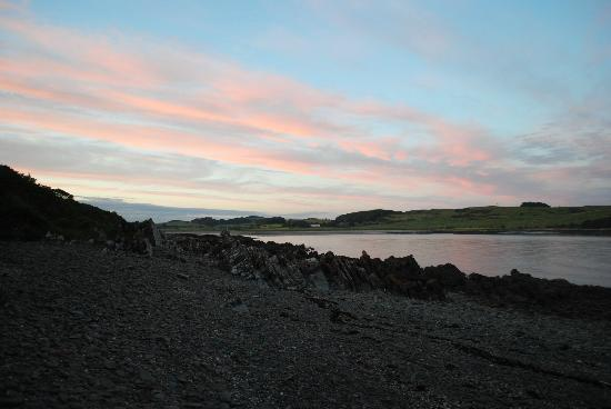 Kirkcudbright, UK: Sunset over Brighouse Bay