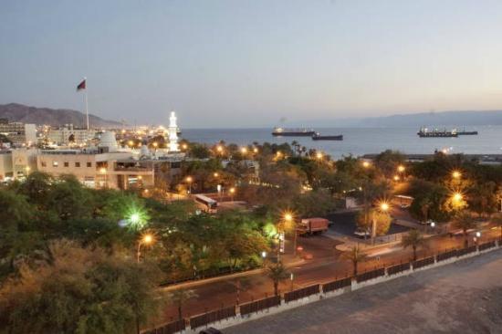 DoubleTree by Hilton Hotel Aqaba: Aussicht vom Zimmerbalkon Hotel Double Tree Aqaba