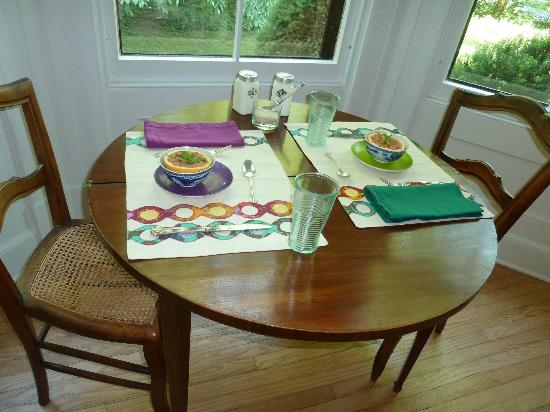 The Buckeye and the Frog: Dining room