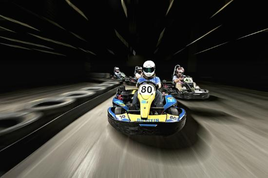 Full Throttle Indoor Karting is Cincinnati's premier high-speed indoor go-kart track. Everyone from the novice to the professional racer will enjoy their state-of-the-art karts and racing at speeds up to 40mph.