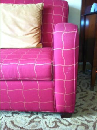 Rochester Marriott Mayo Clinic Area: Stained sofa