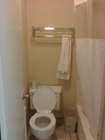 Red Roof Inn Port Aransas: Super small bathroom