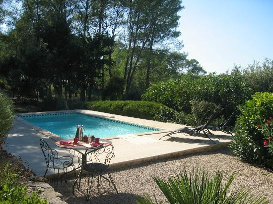 Lou Soleou : petit dejeuner à la piscine