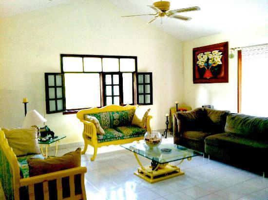 Beachouse Dive Hostel Cozumel: Living room