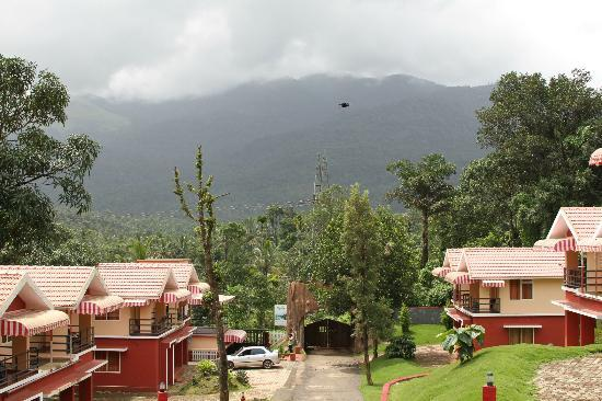 Vythiri Meadows: View from the top of the resort