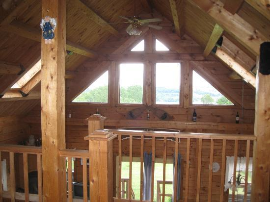 A Beautiful Place: view from loft bedroom