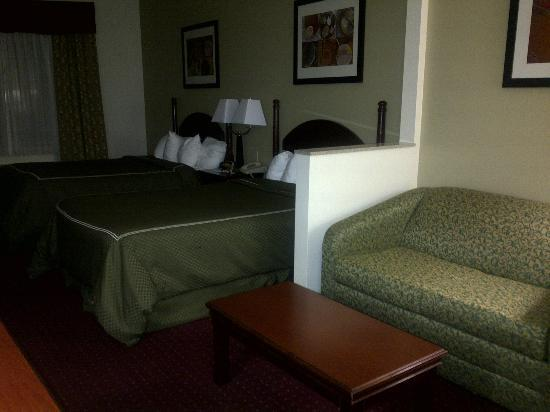 Comfort Suites Inn at Ridgewood Farm: The room is crammed with furniture.