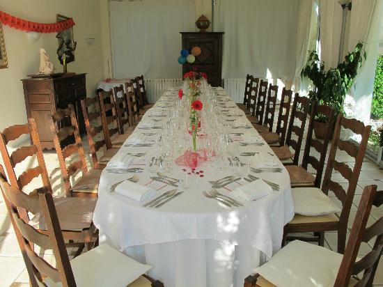 Chateau Bellevue : Private Dining Room--Table for 19