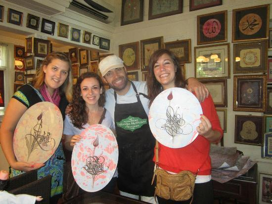 Caferaga Medresesi : Josh and us with our beautiful gifts
