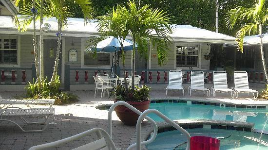 Coral Reef Guesthouse: Pool and 12 person Hot Tub