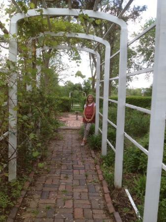 General Crook House Museum: Victorian Garden trellis.