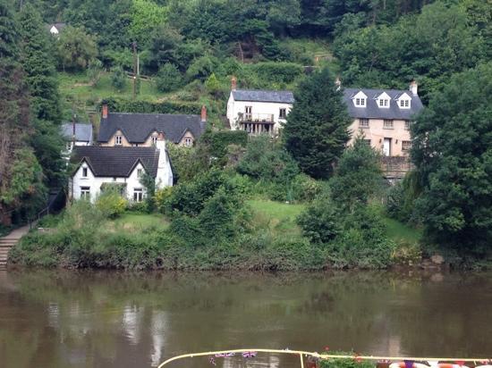 The Saracens Head Inn: across the river