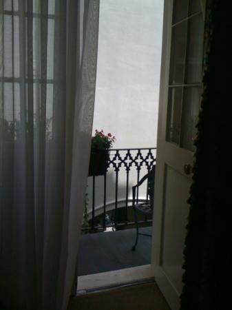 Bienville House: view out the balcony