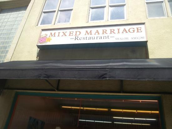 Mixed Marriage: The multi-cultural flavor of this restaurant is well-expressed by its outward appearance.