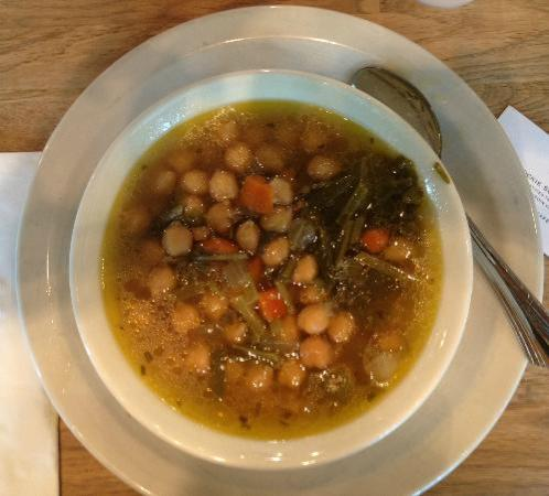Tomasso Trattoria: Chickpea and Beet Greens Soup