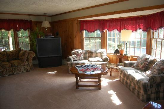 Big Bears Lodge : Such a cozy living room.