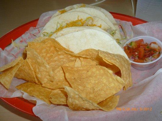 Tortilla Bay Southwest Grille: Soft Tacos at Tortilla Bay