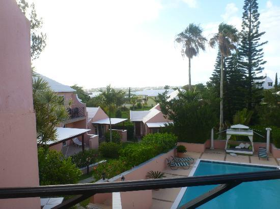 Fourways Inn: view from our balcony