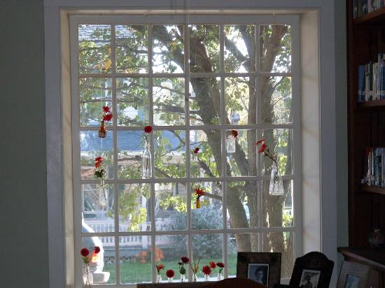 Musser's Historic Country Suites: whimsical window in the dining room