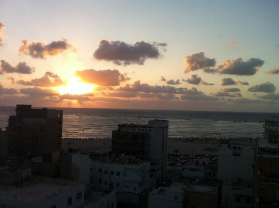 Plasma Hotel Tripoli: view from the hotel terrace